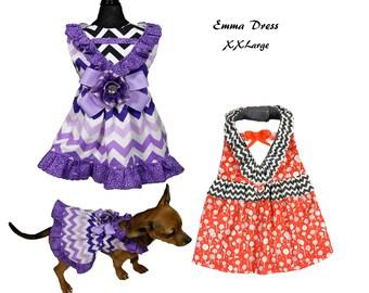 Dog Tutu, Dog Dress Pattern, Dog Clothes Sewing Pattern pdf Tutorial -Emma Dress- XXLARGE