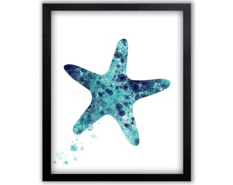 Starfish Art, Watercolor Wall Art, Starfish Art, Starfish, Limited Edition Art Print - NS7002P