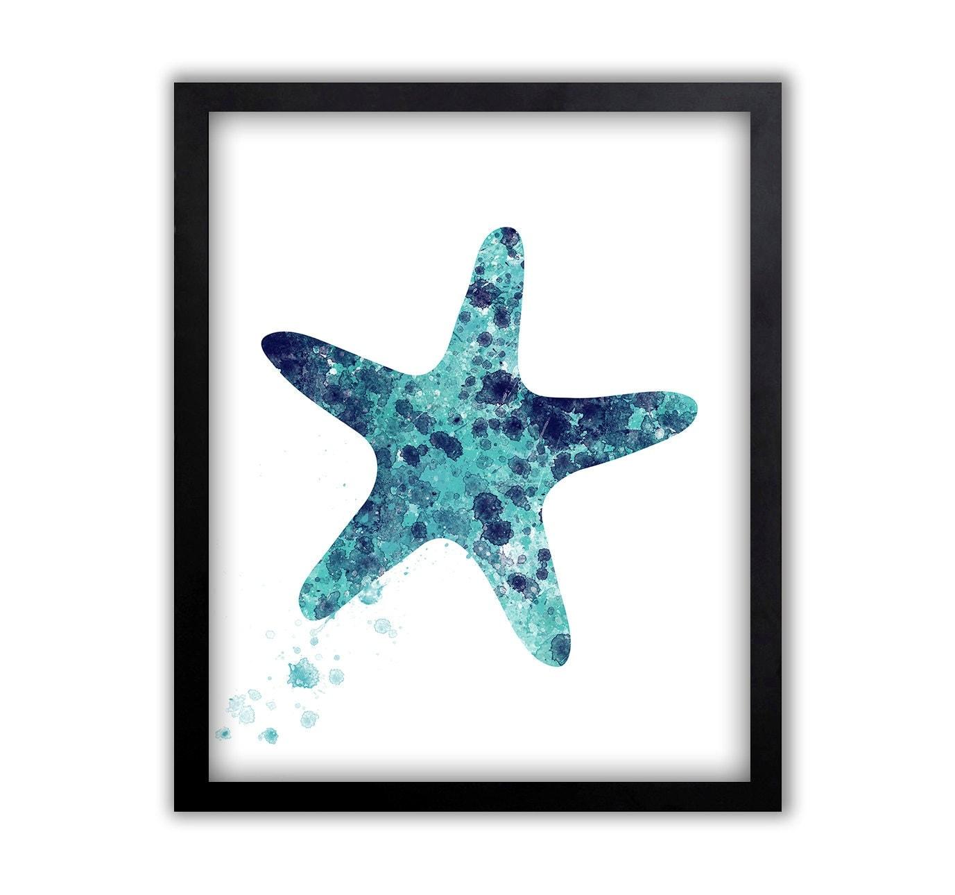Starfish Art Watercolor Wall Art Starfish Art Starfish