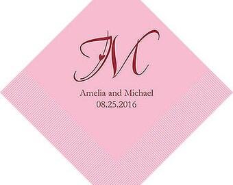 Monogram Wedding Napkins (Pack of 100)