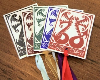 Two Dragons - small bookmark