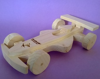 Wooden race car, race car for kids in solid pinewood ( Cod . GIO009 )