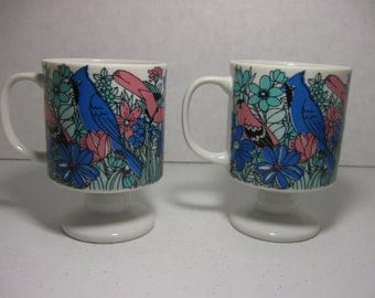 Footed Bird Mugs Etsy