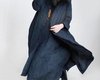 women linen long vest/women leisure vest coat/women loose vest/women spring vest/-ZCC0015