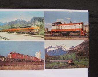 Vintage Railroad-Transportation Postcards