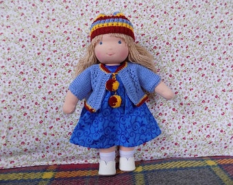 Waldorf doll, rag doll, textile doll, fabric doll, custom doll, cloth doll