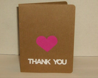 Thank You Cards, Greeting Cards, Heart Thank You Cards, Baby Cards, Bridal Shower, Wedding, Birthday,