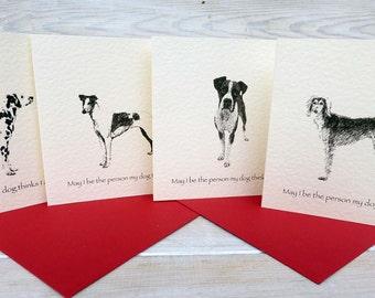 Boxer, Dalmation, Saluki, Greyhound Cards
