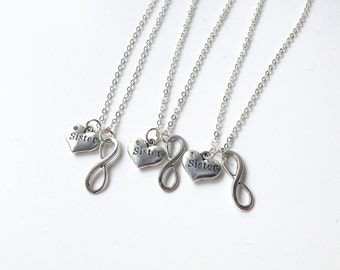 sister necklace for 3, three sisters jewelry, 3 sisters jewelry, three sisters, 3 sisters, sisters forever