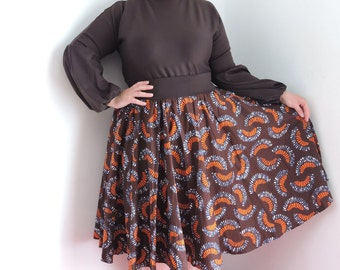 Corolla wax midi skirt