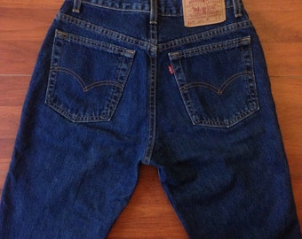 Vintage Levis 517 Slim Fit Boot Cut 9 S Jr - Made in USA - 80's Levi Strauss Jeans