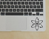 Heart Atom Decal, Atom Sticker, Atomic Decals, I Heart Science Decals, Physics Sticker, Science Vinyl Decal, Laptop Stickers