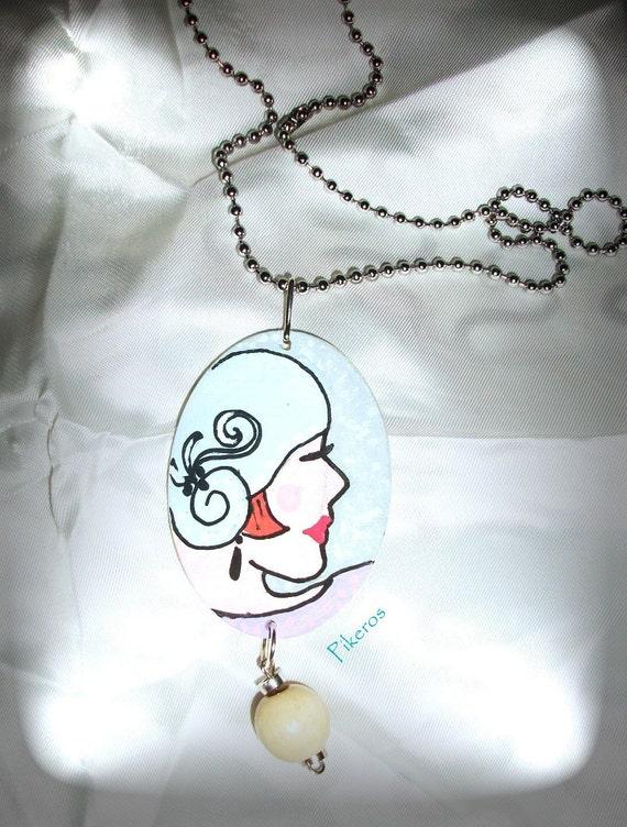Women retro necklace 001 by Pikeros