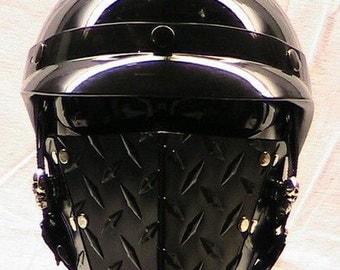 Black Diamond Maul extreme face mask for motorcycle riders or cosplay enthusiasts.