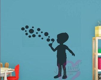 Boy Wall Decal Etsy - Nursery wall decals boy