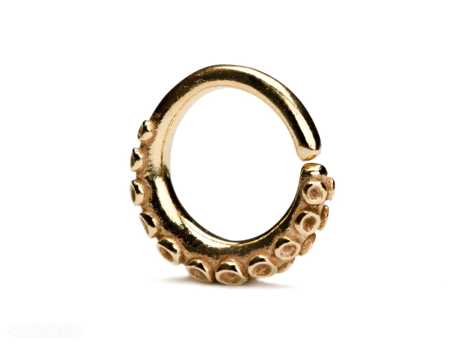 octopus septum ring nose ring jewelry gold
