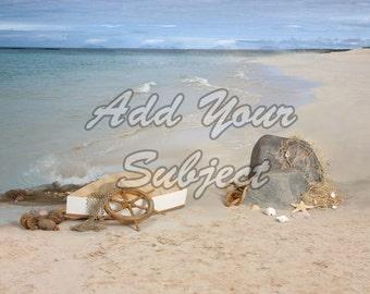 Digital Photo Background Download Backdrop Beach Scene