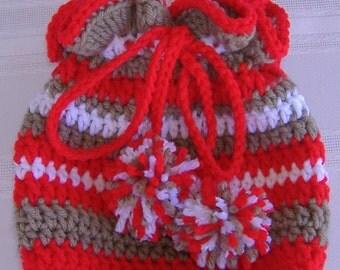 crochet draw string pouch, girls pouch, girls purse, crochet organizer bag, crochet girls purse, crochet bag, crochet tote, crochet handbag
