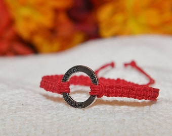Adjustable Dream Ring Hemp Connector Bracelet