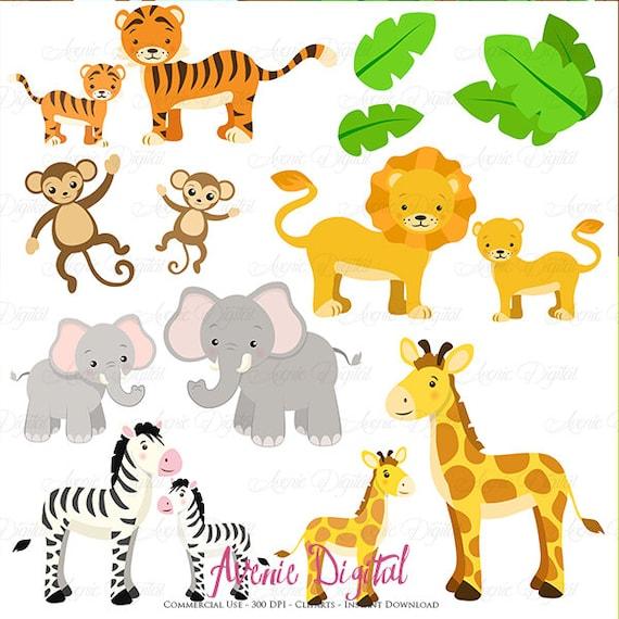 Cute Safari Clipart Scrapbook Printables Baby By Aveniedigital