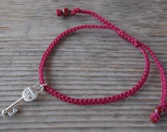 Key Anklet,Key Bracelet,Adjustable Drawstring,Bohemian Anklet,Gypsy Anklet,Summer Anklet,Woman,Ladies Anklet,Girls Anklet