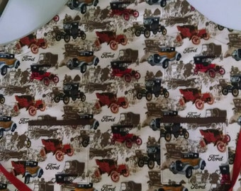 Boys Antique Ford Car Apron Vintage Ford Apron Boys Large Apron (7-8)