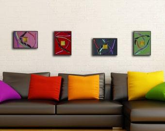 Glass wall art | Etsy