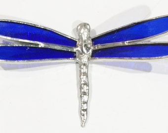 Stained Glass DRAGONFLY ! Handmade and beautiful! Thanks for Looking!