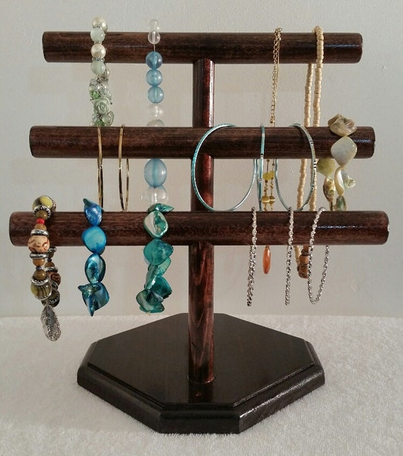 Diy 3 Tier Jewelry Stand: Items Similar To Jewelry Display, 3-Tier Necklace Holder