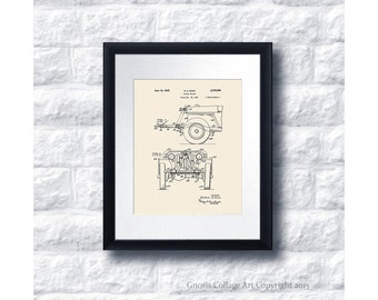 Military Willys Jeep Patent Print #6 1945 Jeep Towing device, Jeep gift idea, vintage jeep wall decor, military gift idea, US Army Gift