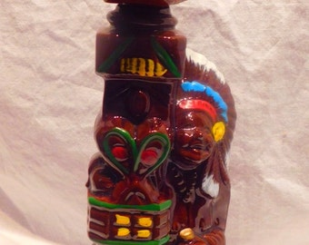 Vintage Kitsch Liquor Decanter Eagle Totem from Montreal Canada