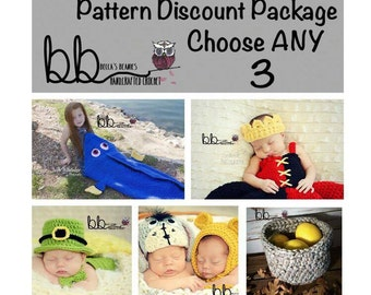 Design Discount Pattern Package  CHOOSE ANY 3