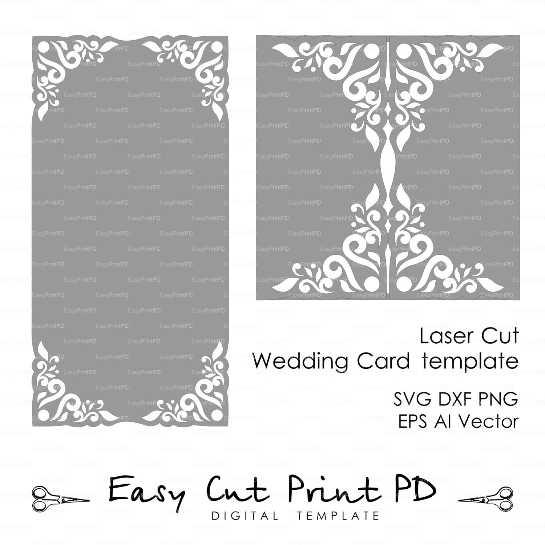 Wedding Invitation Card Template Lace Folds Studio V3 Svg