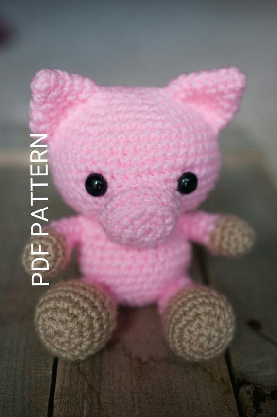 PATTERN: Crochet pig pattern amigurumi pig by ...
