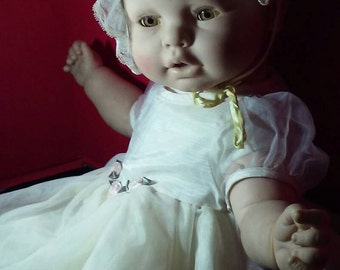 Vinyl baby doll made in Spain large 22inches