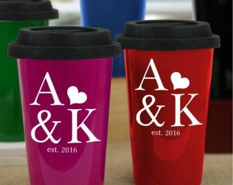 Couples Established Travel Mug, Couples Personalized Travel Mug