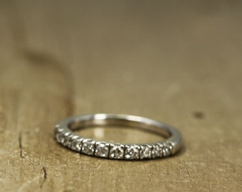 11 Stone Diamond Wedding Band