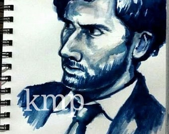 David Tennant Watercolor