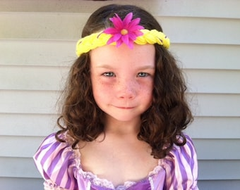 Kids headband, Kids Hair, Hair Accessories, Girls Headband, Girls Hair, Rapunzel Party, Party Favors, Girls Accessories, Flower Headband