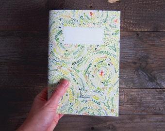 Nature Swirls Illustrated Notebook