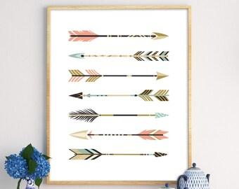 Arrow Print, Scandinavian Print, Nursery Poster, Arrow Wall Art, Arrow Poster, Arrow Art Print, Scandinavian Design, Minimalist Wall Art