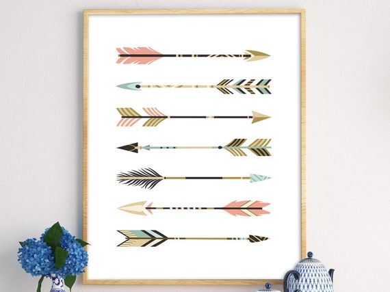 arrow print scandinavian print nursery poster arrow wall. Black Bedroom Furniture Sets. Home Design Ideas