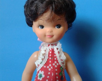 "Vintage Doll "" Brunette Bubble Cut Hair "" 1960's Mod CLEARANCE"