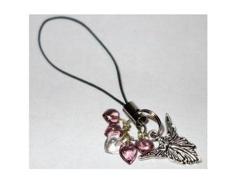 Fairy & 5 Tiny Hearts Phone or Key Charm
