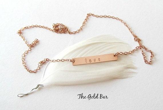 rose gold name necklace rose gold nameplate by thegoldbar. Black Bedroom Furniture Sets. Home Design Ideas