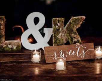 Sweets Sign - Wooden Wedding Signs - Wood