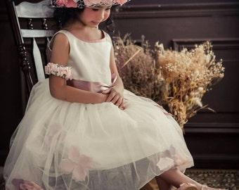 girl flower dress custom order handmade