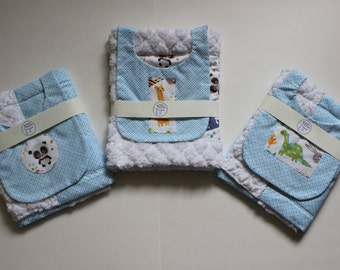 burp clothes and bibs gift sets