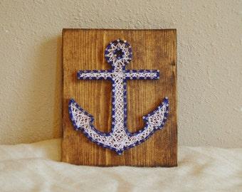 Anchor String Art, Nautical String Art