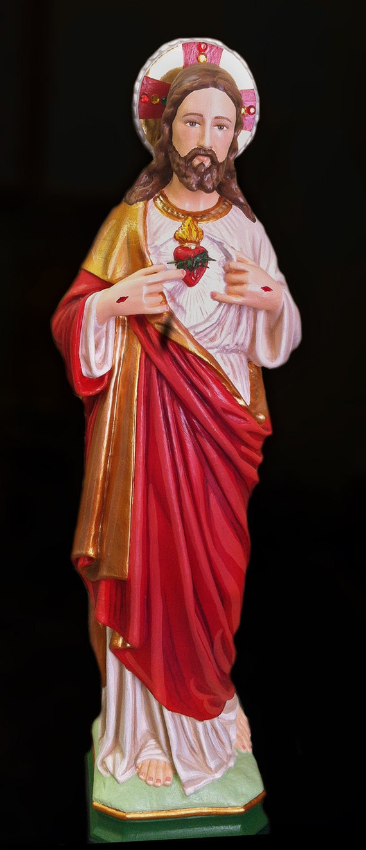 "Sacred Heart of Jesus 18"" Catholic Christian Plaster Religious Statue"